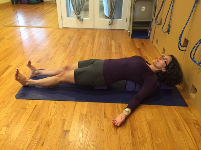 Restorative Yoga Pose Purvottansana - Intense Stretch of the East Side of the Body, Supported
