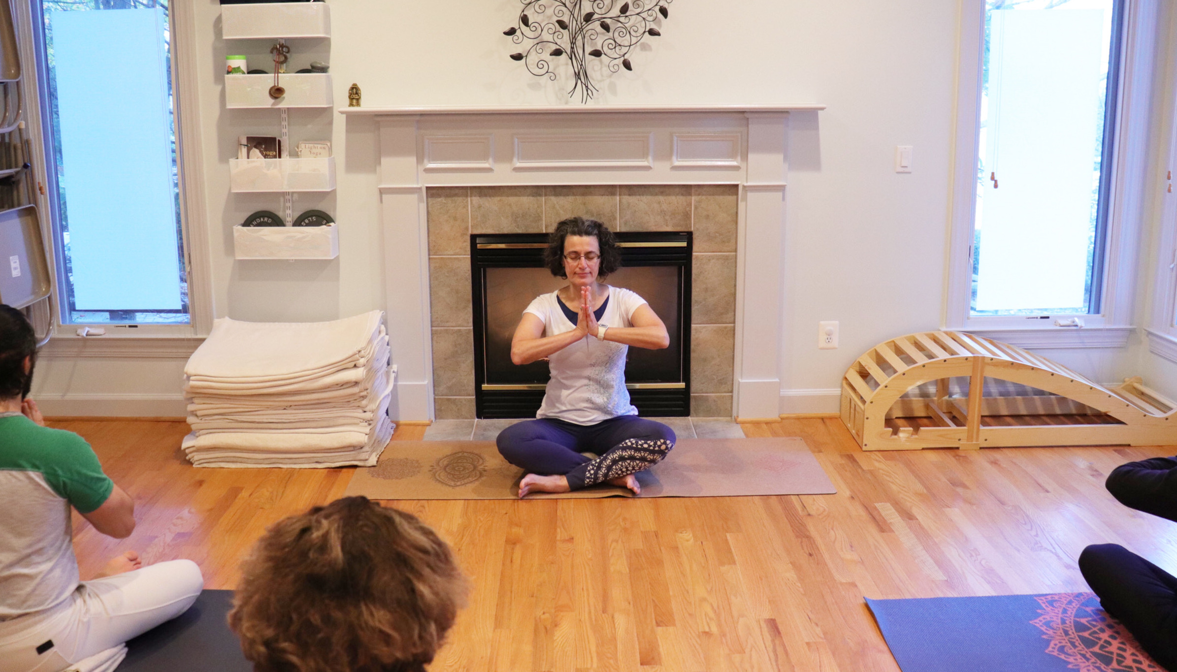 Iyengar yoga in Reston home studio